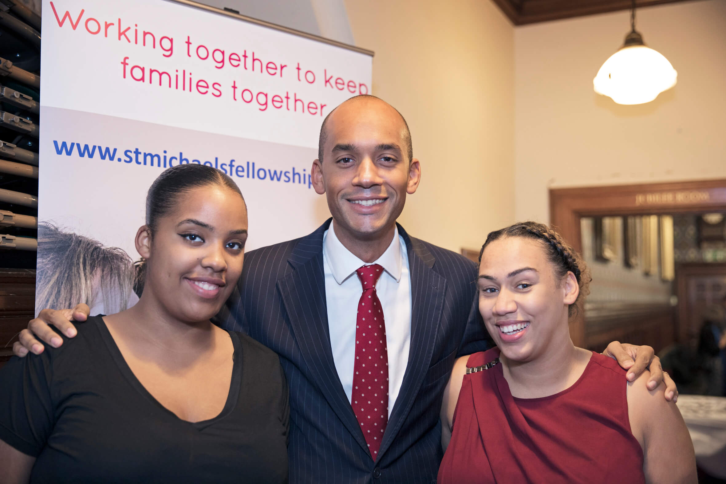 Chuka Umunna MP with young parents